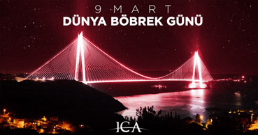 "Yavuz Sultan Selim Bridge Turns Burgundy for ""World Kidney Day"""