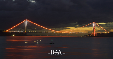 "Yavuz Sultan Selim Bridge Turns Orange for ""End Violence Against Women"""